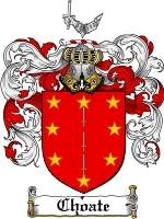 Primary image for Choate Family Crest / Coat of Arms JPG or PDF Image Download
