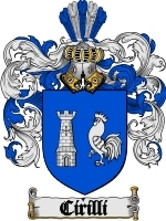 Primary image for Cirilli Family Crest / Coat of Arms JPG or PDF Image Download