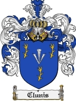 Clunis Family Crest / Coat of Arms JPG or PDF Image Download