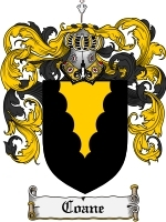 Primary image for Coane Family Crest / Coat of Arms JPG or PDF Image Download