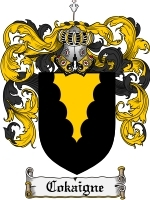 Primary image for Cokaigne Family Crest / Coat of Arms JPG or PDF Image Download