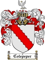 Primary image for Colepeper Family Crest / Coat of Arms JPG or PDF Image Download