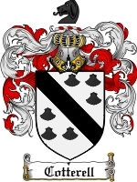 Primary image for Cotterell Family Crest / Coat of Arms JPG or PDF Image Download