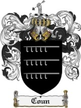 Coun Family Crest / Coat of Arms JPG or PDF Image Download - $6.99