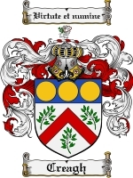 Primary image for Creagh Family Crest / Coat of Arms JPG or PDF Image Download