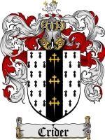 Primary image for Crider Family Crest / Coat of Arms JPG or PDF Image Download