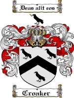 Primary image for Croaker Family Crest / Coat of Arms JPG or PDF Image Download