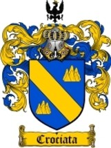 Crociata Family Crest / Coat of Arms JPG or PDF Image Download - $6.99
