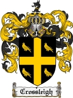 Primary image for Crossleigh Family Crest / Coat of Arms JPG or PDF Image Download