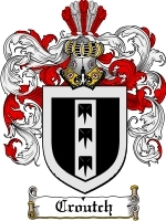 Primary image for Croutch Family Crest / Coat of Arms JPG or PDF Image Download