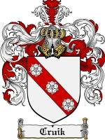 Cruik Family Crest / Coat of Arms JPG or PDF Image Download