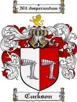 Primary image for Cuckson Family Crest / Coat of Arms JPG or PDF Image Download