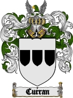 Primary image for Curran Family Crest / Coat of Arms JPG or PDF Image Download