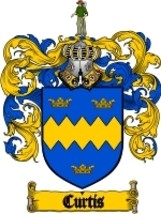 Curtis Family Crest / Coat of Arms JPG or PDF Image Download - $6.99