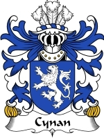 Primary image for Cynan Family Crest / Coat of Arms JPG or PDF Image Download
