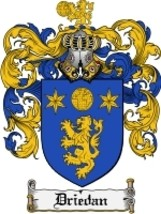 Driedan Family Crest / Coat of Arms JPG or PDF Image Download - $6.99