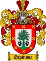 Espinosa Family Crest / Coat of Arms JPG or PDF Image Download - $6.99