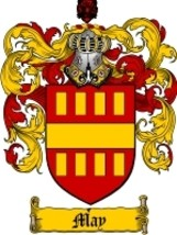 May Family Crest / Coat of Arms JPG or PDF Image Download - $6.99