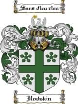 Hodskin Family Crest / Coat of Arms JPG or PDF Image Download - $6.99