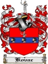 Kovac Family Crest / Coat of Arms JPG or PDF Image Download - $6.99