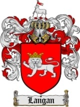 Langan Family Crest / Coat of Arms JPG or PDF Image Download - $6.99