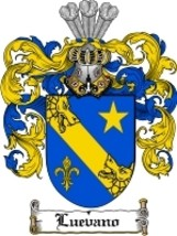 Luevano Family Crest / Coat of Arms JPG or PDF ... - $6.99