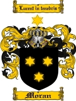 Moran Family Crest / Coat of Arms JPG or PDF Image Download