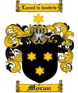 Moran Family Crest / Coat of Arms JPG or PDF Image Download - $6.99