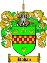 Rohan Family Crest / Coat of Arms JPG or PDF Image Download - $6.99