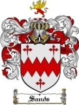 Sands Family Crest / Coat of Arms JPG or PDF Image Download - $6.99