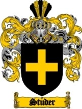 Studer Family Crest / Coat of Arms JPG or PDF Image Download - $6.99