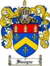 Swayne Family Crest / Coat of Arms JPG or PDF Image Download - $6.99