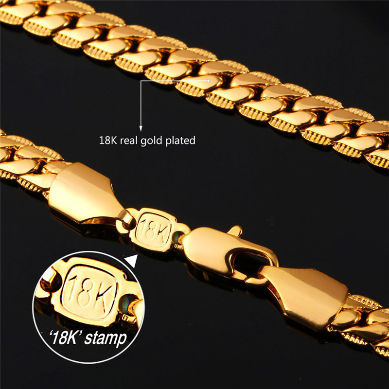 how to tell if jewelry is real gold trendy 18k st real gold plated chain necklace bracelet 5775