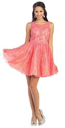 Sleeveless Applique Sequin Mesh Dress #1150 (18, Black)