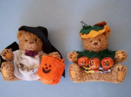 "5"" HALLOWEEN BEARS Set  of 2  Decoraion MIB NEW - £11.28 GBP"
