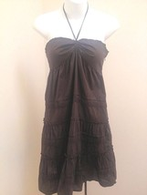 Ann Taylor Loft 2 Dress Halter Brown Tiered Cro... - $19.57