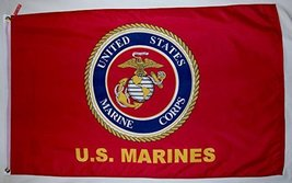 United States Marine Corps USMC Emblem Flag 3' X 5' Indoor Outdoor Banner - $12.95