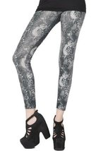 Fashion Mic Womens Intense Graphic Print Liquid Leggings (L/XL, reptile) - $29.69