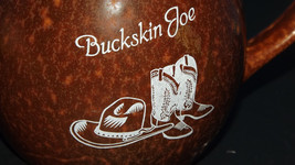 ~Rare! Buckskin Joe Colorado Wild West Theme Park Brown 12 Ounce Mug~ - $23.38