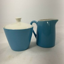 Royal China BLUE HEAVEN Covered Sugar Bowl and Creamer Pitcher Mid Century  - $23.47