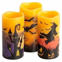 Eldnacele Halloween Flameless Flickering LED Candles with 6-Hour Timer, ... - $47.50