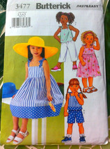 Butterick 3477 girl's Dress Top, Shorts and Pants Sewing Pattern Size2-3... - $7.16