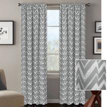 "Better Homes and Gardens Chevron Room Darkening Curtain Panel,Slate,52""x 63"" - $21.07"