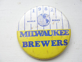 Milwaukee Brewers, 1982 World Series button, pin - $32.21
