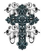 CrossFlourish-Digital clipart-Clip Art - $3.00