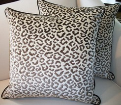 Pair Of Lee Jofa High End Leopard Velvet Pillows - $389.00
