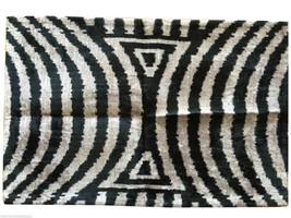 Graphite & Grey Silk Velvet Ikat Pillow - $135.00
