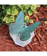 Emerald Verde Butterfly Lost Wax Bronze Casting Collectible Sculpture St... - $69.95