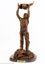 """Calling the Buffalo"" Inspired by Remington Pure Bronze Sculpture Statue... - $1,200.00"