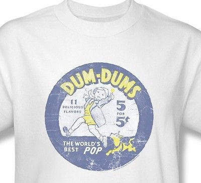 Dum-Dums T shirt distressed retro candy logo vintage cotton graphic tee DUM110